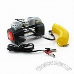 12V DC Metal Air Compressor with Pressure Gauge