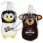 12oz Animal Flat Bottle