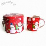 12oz New Bone China Mug with Tin Saving Box