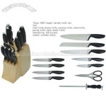 12pcs ABS Forged Handle Knife Set