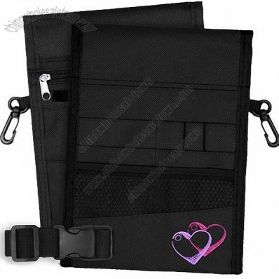 13 Pocket Double Sided Nurse Pouch - Black