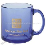 13 oz. light blue glass coffee mug
