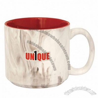 13.5oz Quarry Breeze Two-Tone Marble Look Mug