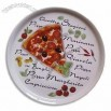 14-inch Porcelain Pizza Plate, Comes in White