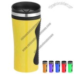 14 oz Double Wall Insulated Plastic Coffee Travel Tumbler Mug
