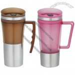 14 oz insulated travel tumbler mug with handle
