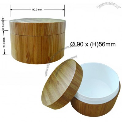 150ml Bamboo Plastic Cosmetic Cream Jar
