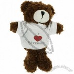 15cm Jimbo Beanie Bear with T-Shirt