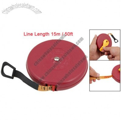 15m 50ft Red Cover Measuring Tape Retractable Tape Line Measure