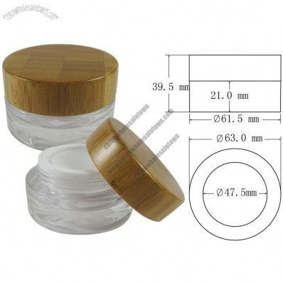 15ml Cosmetic Cream Jar with Bamboo Lid