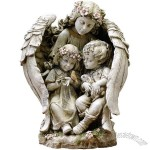 16-Inch Angel with Children Garden Statue