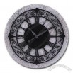 16-inch MDF Clock with Wrought Iron Case