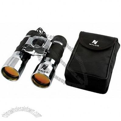 16 x 32 Chrome Plated Binoculars with Ruby Lenses and Case