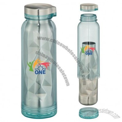 16oz Geometric Stainless Sport Bottle