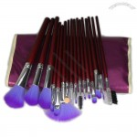 16pc Professional Cosmetic Make up Brushes Set Kit With Purple Bag