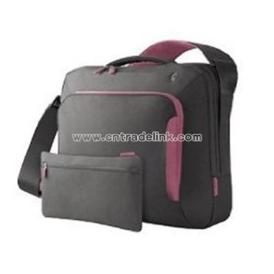 17-Inch Energy Collection Messenger Bag (Gray/Flamingo Pink)