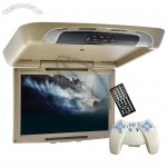 17 Inch Flip Down Car Roof Monitor with DVD Player (DIVX, 1440x900, FM)