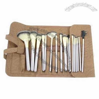 18 Pieces Makeup Brushes set with PU Pouch