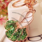 18K Gold Plated Alloy Cabbage Vegetable Charm Keychain With Rhinestone