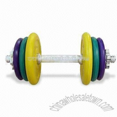 18kg color cast iron dumbbell set