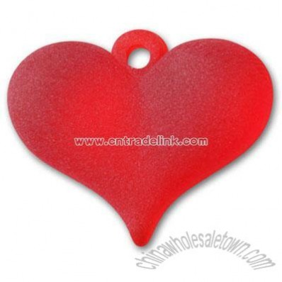 18x15mm Matte Ruby Red Resin Heart Pendant