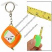 1M Length Orange Green Plastic Shell Retractable Soft Measure Tape Keyring