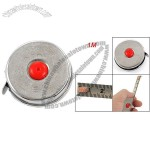 1M Silver Tone Steel Blade Self Retracting Tape Measure