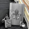 1oz and 8oz Fleur de Lis Flask Gift Set