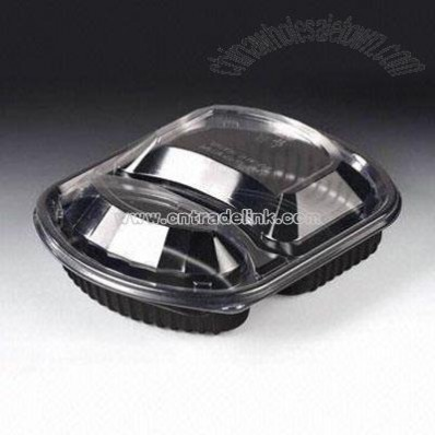 2-COMPARTMENT FOOD CONTAINER