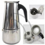 2 Cup Stainless Steel Stovetop Espresso Coffee Maker