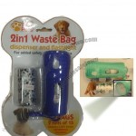 2 IN 1 Pet Walking Waste Bag Dispenser With Flashlight