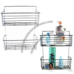 2 Layer Bathroom Rack with Chrome Plating Surface Finish