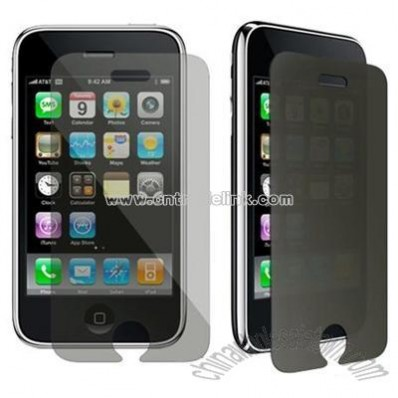 2 Privacy LCD Screen Protector Film For Apple Iphone 3G 3GS