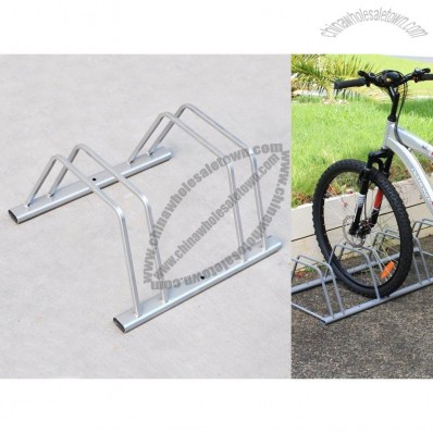 2-Slot Floor Mounted Bike Stand