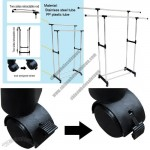 2-Tier Adjustable Garment Clothes Rack