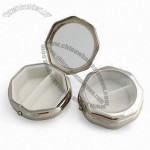 2 compartment Octagon Metal Pill Box
