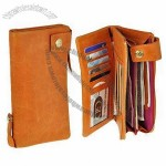 2-fold 1 Drum Dyed Cowhide Travel Wallet