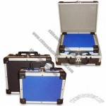2-in-1 Small Tool Cases with Diamond Pattern ABS Surface and Gray EVA Lining