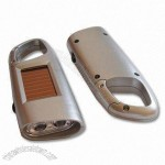 2-piece LED Solar Flashlights with Carabiner