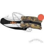 2-piece hunting knife set. Camo aluminum handles.