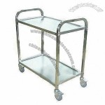 2-tier Trolley with Full Stainless Steel Construction
