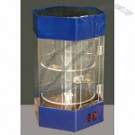 2 tiers Acrylic Counter Rotating Cabinets with LED Lights