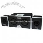 2.1CH PC Speaker with USB Hub Built-In
