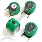 2.4V Rechargeable NiMH Button-cell Batteries with Tags and 80mAh Capacity