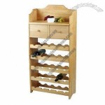 20-bottle Wine Shelf, Combined with Desk and 2 Drawers