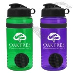 20 oz. Stripe Shaker Bottle with Flip Lid