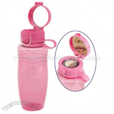 20 oz. Vanity Water Bottle - Lid with Mirror/Compartment