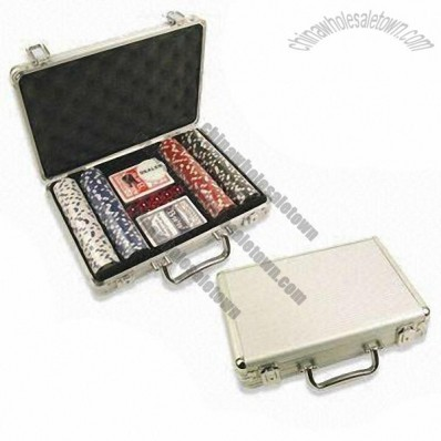 200 Pieces Professional Poker Chip Set, Available in Aluminum Case