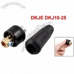 200A 10-25mm2 Replacing Welding Cable Connector Adapter Black