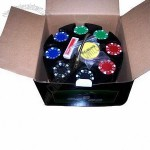 200ct Suited 11.5g Poker Chip Set in Plastic Carousel